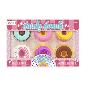 OOLY - Dainty Donuts Scented Erasers 6 stk