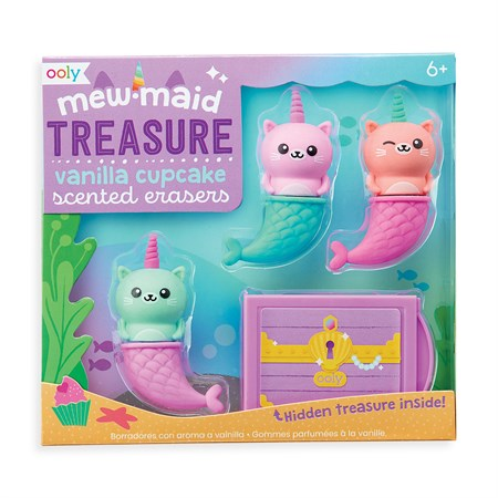 OOLY - Mew-maid Treasure Scented Erasers