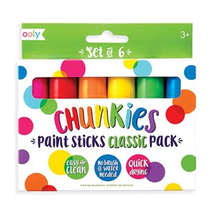 OOLY - Chunkies Paint Sticks Classic, Sæt Med 6