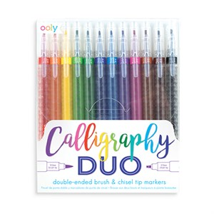 OOLY - Calligraphy Duo Double Ended Markers, sæt med 12