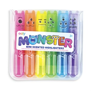 OOLY - Mini Monster Scented Markers, 6 stk.