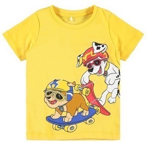 Name it - Pawpatrol Zane T-shirt SS, Daffodil Melange