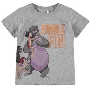 Name it - Jungle Andreas T-shirt SS, Grey Melange