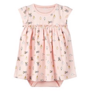 Name it - Daisy Ange SS Dress, Strawberry Cream