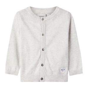 Name it - Hedrom Strikcardigan, Light Grey Melange