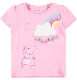 Name it - Peppa Pig / Gurli Gris Tia SS Top, Prism Pink