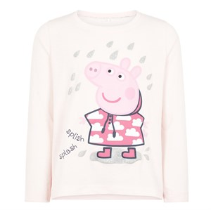 Name it - Peppapig Silvia TOP LS, Barely Pink Melange