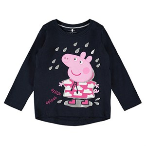 Name it - Peppapig Silvia TOP LS, Dark Sapphire