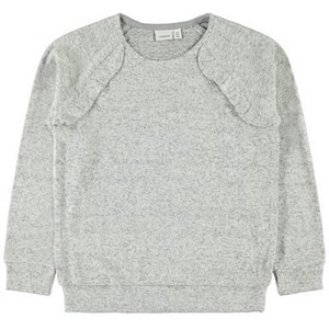 Name it - Victa LS Knit, Light Grey Melange