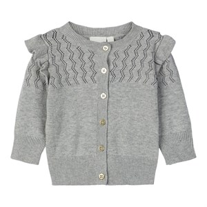 Name it - Nbfonakat Strikcardigan LS, Grey Melange