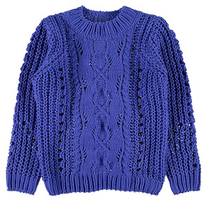 Name it - Nuise Strikbluse LS, Dazzling Blue
