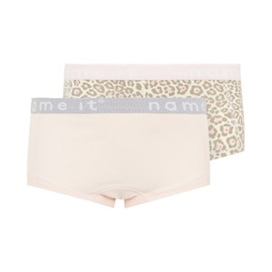 Name It - Girl Hipster 2-pack, Barely Pink & Ani Aop