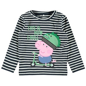 Name it - Peppa Pig Sinus T-shirt LS, Dark Sapphire
