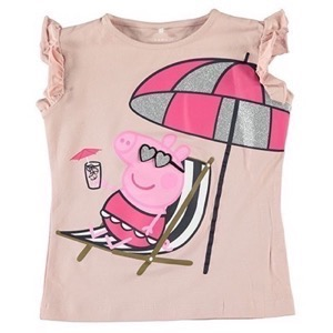 Name it - Peppa Pig / Gurli Gris Mille SS Top, Silver Pink