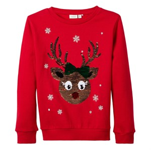 Name It - Girl Rudolfine Sweatshirt, Jester Red