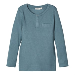 Name It - Telle Slim Top LS, Goblin Blue