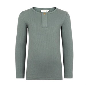 Name it - Billen LS Slim Top, Balsam Green