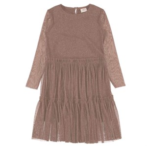 Name It - Girl Ronora LS Dress, Woordrose