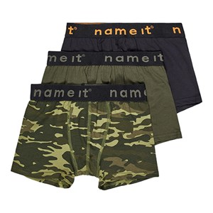 Name It - 3 Pack Boxer, Loden Green Camo