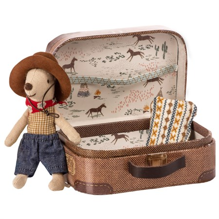 Maileg - Cowboy in suitcase, Little brother mouse