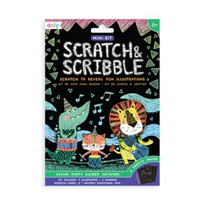 OOLY - Scratch & Scribble Mini, Safary Party
