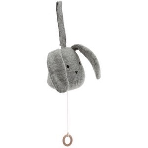 Konges Sløjd -  Music Mobile Rabbit, Grey Melange
