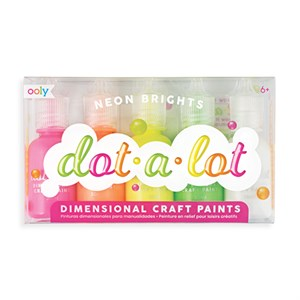 OOLY - Dot-A-Lot 3D Craft Paint NEON, Sæt Med 5