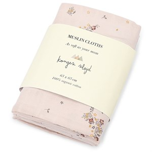 Konges Sløjd - 3 Pack Muslin Cloths / Stofbleer, Nostalgie Blush