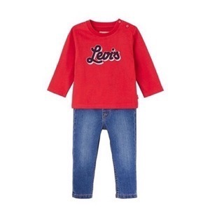 Levi's Kids - Boys box, Red T-shirt LS & Jeans