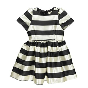 MarMar - Doreen Party Stribe Dress, Black Stripe