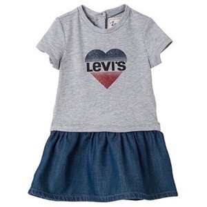 Levi's Kids - Girls Violet Dress, Grey Melange