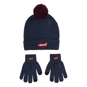Levi's Kids - Boys Batwing Hat Mittens, Dress Blues