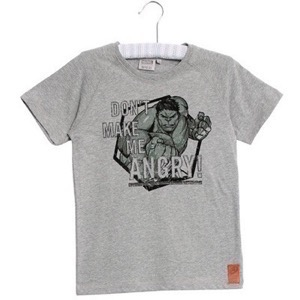 Wheat - T-Shirt Marvel Angry Hulk, Melange Grey