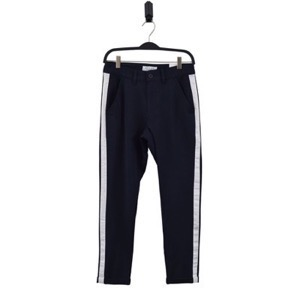 HOUNd - Fashion Chino Pants w/Stripe Effect, Navy/White