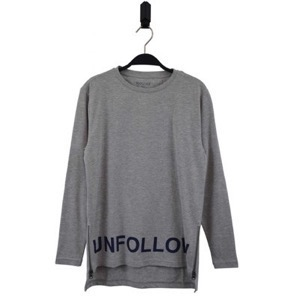 HOUNd - T-shirt LS Unfollow, Grey Mix