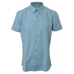HOUNd - Shirt Button Down SS, Dusty Blue