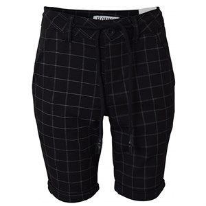 HOUNd - Fashino Chino Shorts Checked, Black