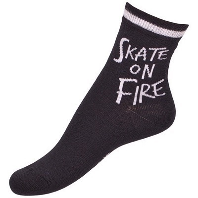 Melton - Strømper Skate On Fire, Black