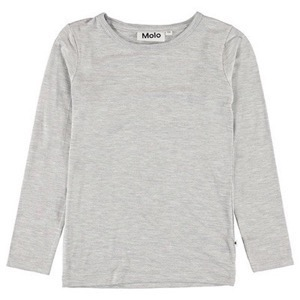 Molo - Ramona bluse - Light Grey Melange
