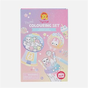 Tiger Tribe - Pastel Colouring Set / Kawaii Cafe
