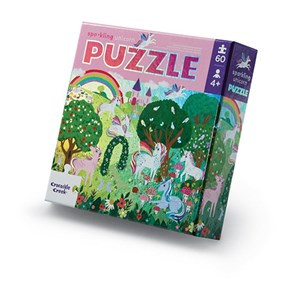 Crocodile Creek - Foil Puzzle / Sparkling Unicorn, 60 Brikker