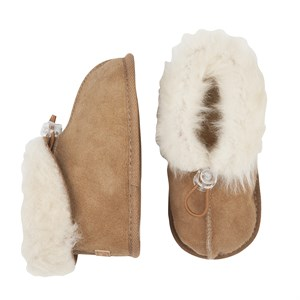 Melton - Lambfur Shoe W. Toggle, Camel