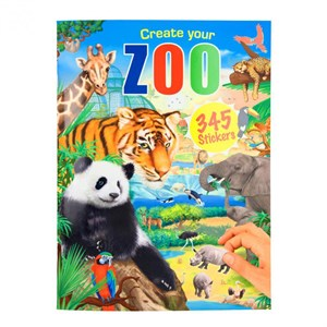 Creative Studio -  Create Your Zoo, Aktivitetsbog Med Stickers