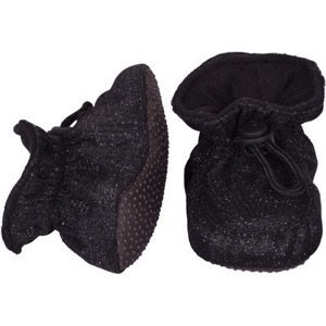Melton - Booties, Black Glitter