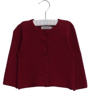 Wheat - Strik Cardigan Betty, Plum Rose