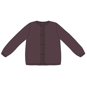Wheat - Strikcardigan Manuela, Soft Eggplant