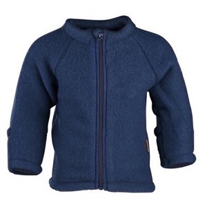 Mikk-Line - Wool Baby Jacket, Blue Nights
