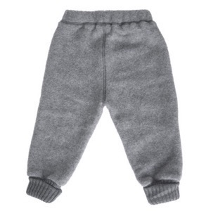 Mikk-Line - Wool Baby Pants, Melange Grey