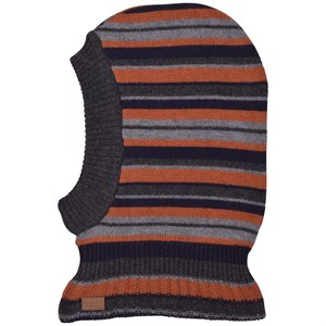 Melton - WOOL Fullface w. Small Stripes, Marine