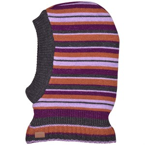 Melton - WOOL Fullface w. Small Stripes, Dark Fuchsia